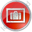 Baggage Storage Circle Red Icon