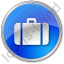 Baggage Circle Blue Icon, PNG/ICO, 64x64