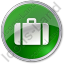 Baggage Circle Green Icon