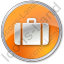 Baggage Circle Orange Icon
