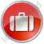 Baggage Circle Red Icon, PNG/ICO, 64x64
