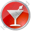 Bar Martini Circle Red Icon