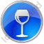 Bar Wine Circle Blue Icon