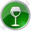 Bar Wine Circle Green Icon