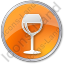 Bar Wine Circle Orange Icon