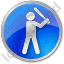 Baseball Circle Blue Icon