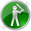 Baseball Circle Green Icon