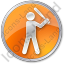 Baseball Circle Orange Icon