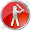 Baseball Circle Red Icon, PNG/ICO, 64x64