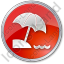 Beach Circle Red Icon, PNG/ICO, 64x64