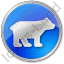 Bear Circle Blue Icon