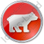 Bear Circle Red Icon