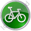 Bicycle Circle Green Icon