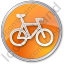 Bicycle Circle Orange Icon
