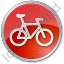 Bicycle Circle Red Icon