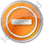 Border Crossing Circle Orange Icon, PNG/ICO, 64x64