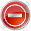Border Crossing Circle Red Icon