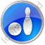 Bowling Circle Blue Icon