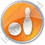 Bowling Circle Orange Icon