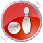 Bowling Circle Red Icon