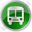 BusStation Circle Green Icon, PNG/ICO, 64x64