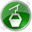 Cable Car Circle Green Icon