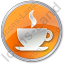 Cafe Circle Orange Icon