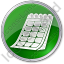 Calendar Circle Green Icon, PNG/ICO, 64x64