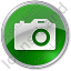 Camera Circle Green Icon, PNG/ICO, 64x64