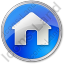 Camping Hut Circle Blue Icon