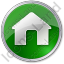 Camping Hut Circle Green Icon