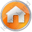 Camping Hut Circle Orange Icon