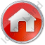 Camping Hut Circle Red Icon
