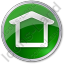 Camping Shelter Circle Green Icon