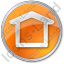 Camping Shelter Circle Orange Icon