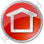 Camping Shelter Circle Red Icon