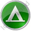 Camping Tipi Circle Green Icon, PNG/ICO, 64x64