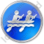 Canoeing Circle Blue Icon