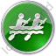 Canoeing Circle Green Icon