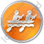 Canoeing Circle Orange Icon