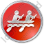 Canoeing Circle Red Icon