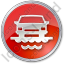 Car Ferry Circle Red Icon, PNG/ICO, 64x64