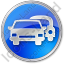Car Rental Service Circle Blue Icon, PNG/ICO, 64x64