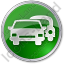 Car Rental Service Circle Green Icon, PNG/ICO, 64x64