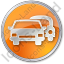 Car Rental Service Circle Orange Icon