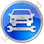 Car Repair Circle Blue Icon