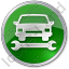 Car Repair Circle Green Icon