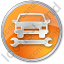 Car Repair Circle Orange Icon, PNG/ICO, 64x64