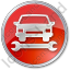 Car Repair Circle Red Icon