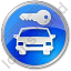 Car Safety Circle Blue Icon